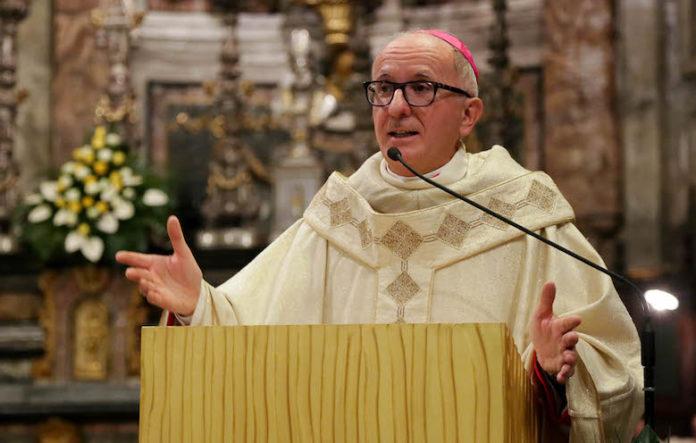 Olivero mons Derio il giorno dell'ordinazione episcopale
