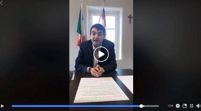 Il sindaco Tallone in video-conferenza