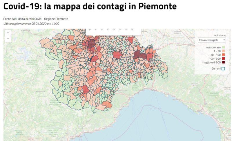 La Cartina Del Piemonte.Covid 19 La Mappa Dei Contagi Nei Comuni De La Fedelta 64 Casi La Fedelta