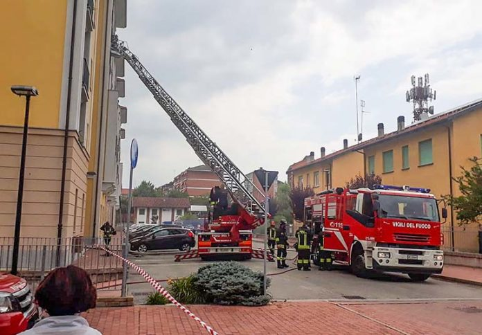 Via Camponogara incendio