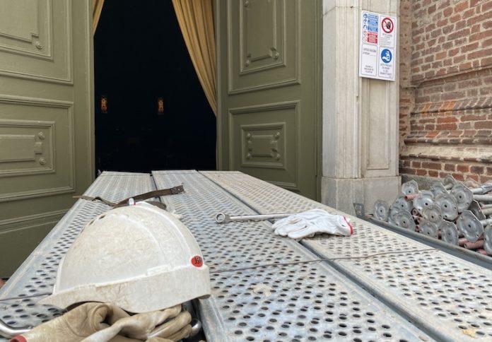 Duomo Fossano Ponteggi Per Cupola