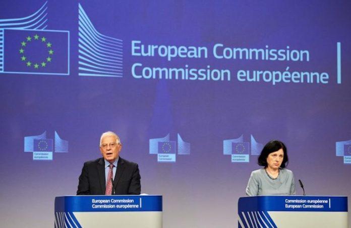 Commissione Europea: i commissari Borrell e Jourovà