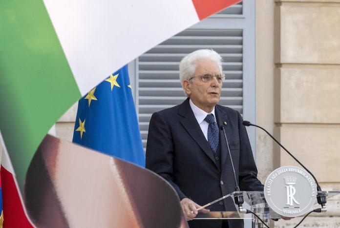 Il Presidente della Repubblica Sergio Mattarella durante il