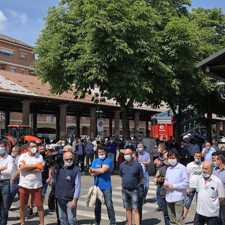 protesta allevatori suini a Fossano