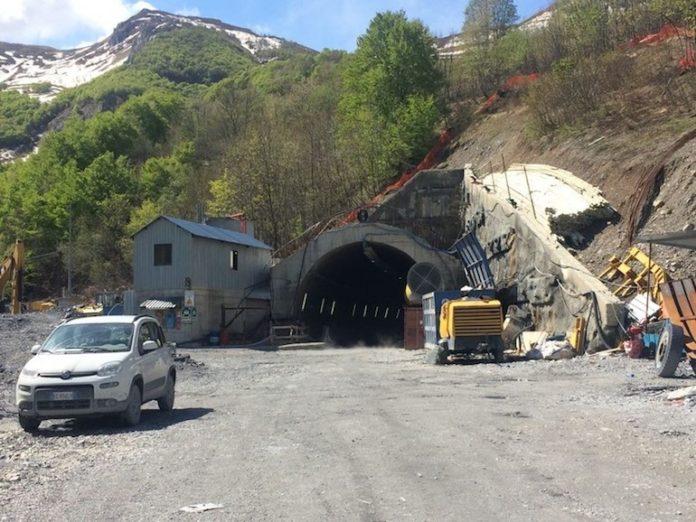 Tunnel di Tenda, il cantiere