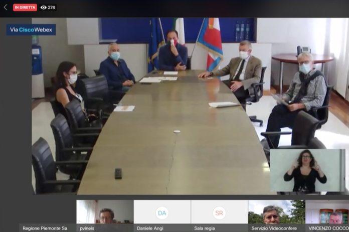 Alberto Cirio in videoconferenza