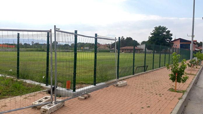Centallo campo da calcio via delle Scuole