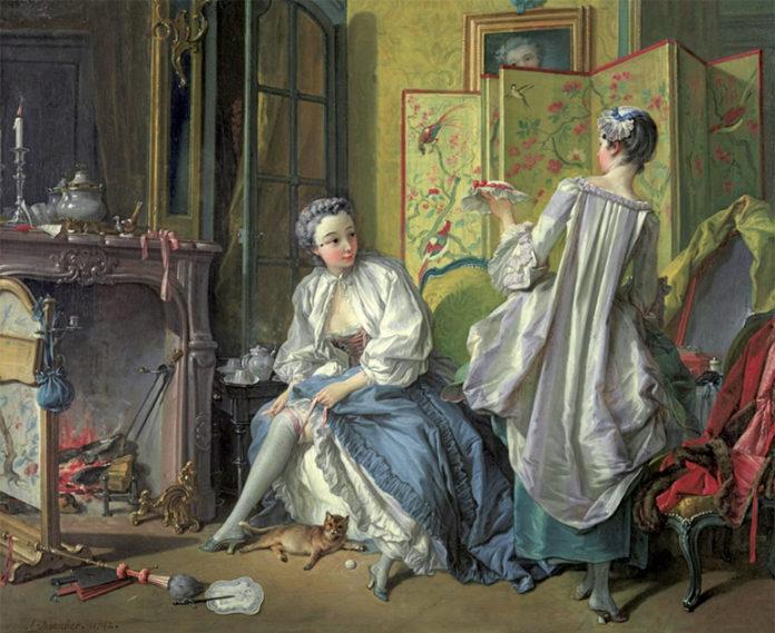 François Boucher, Donna che si mette la giarrettiera