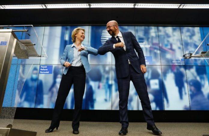 Bruxelles, 21 luglio: Michel e Von der Leyen al termine del Consiglio europeo