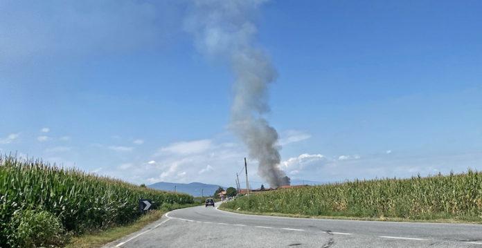 Incendio cascina San Vittore