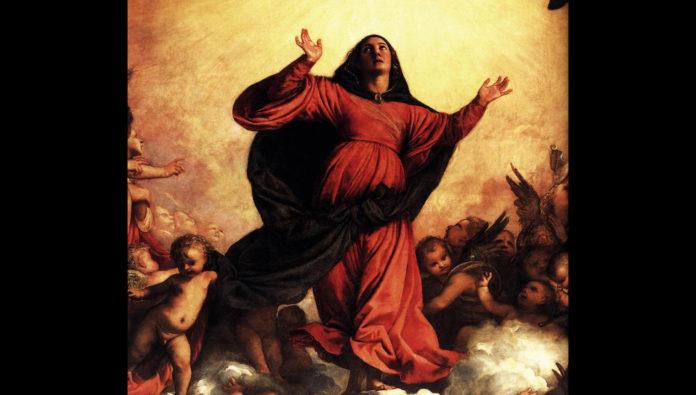 Tiziano Assunzione Della Vergine Particolare