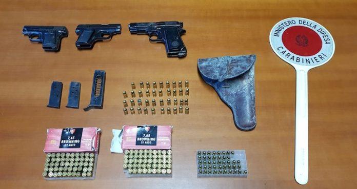 Centallo armi sequestrate