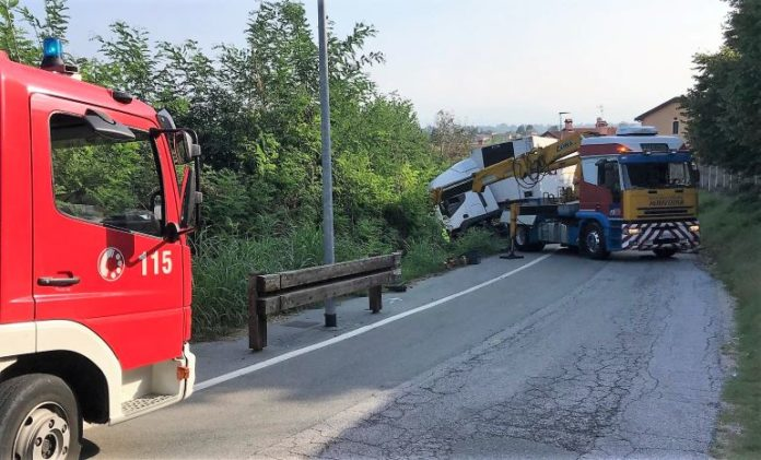 Incidente in strada Santo Stefano a Fossano