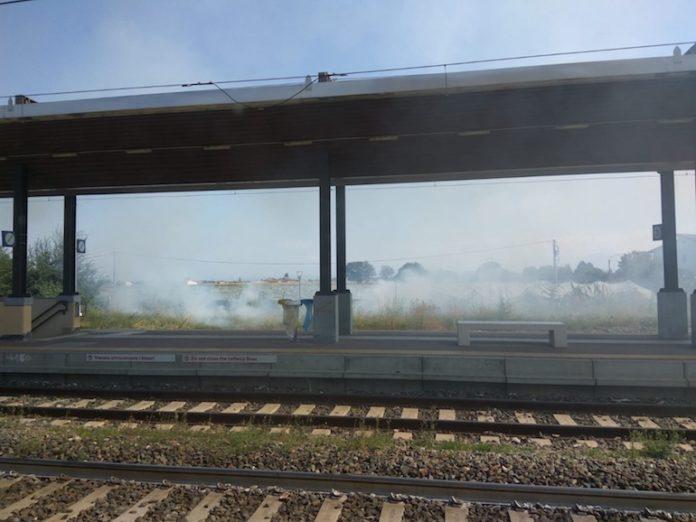 Centallo incendio Stazione
