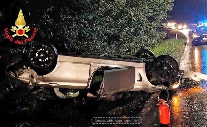 Incidente stradale a San Sebastiano di Fossano
