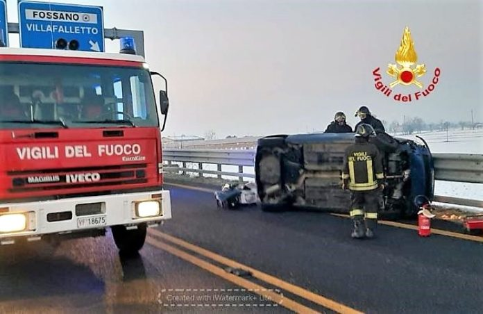 Incidente stradale in tangenziale a Fossano