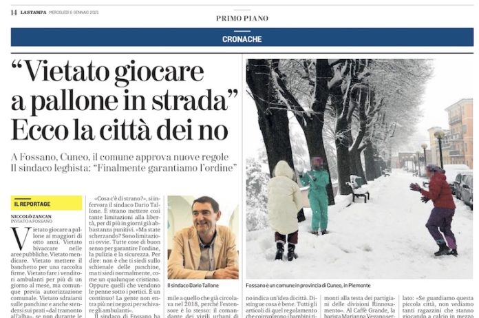 La Stampa 09 01 2021