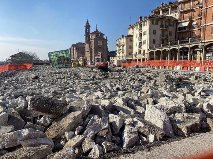 Vittorio Veneto piazza lavori