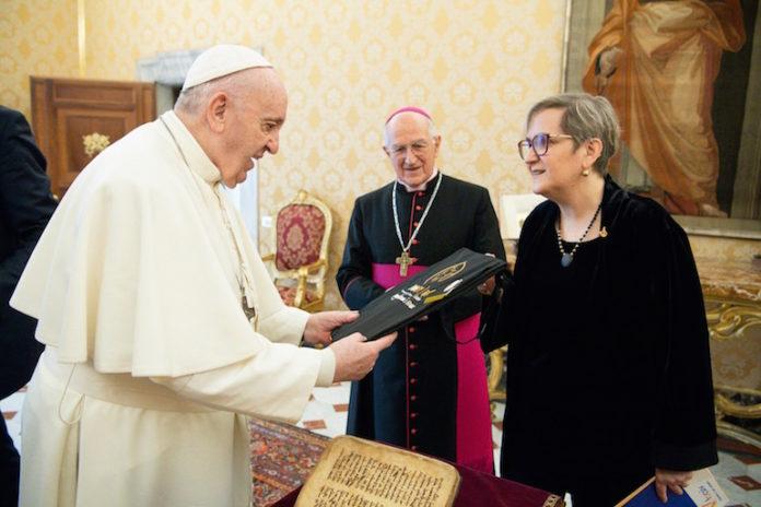 ivana borsotto ricevuta da papa Francesco