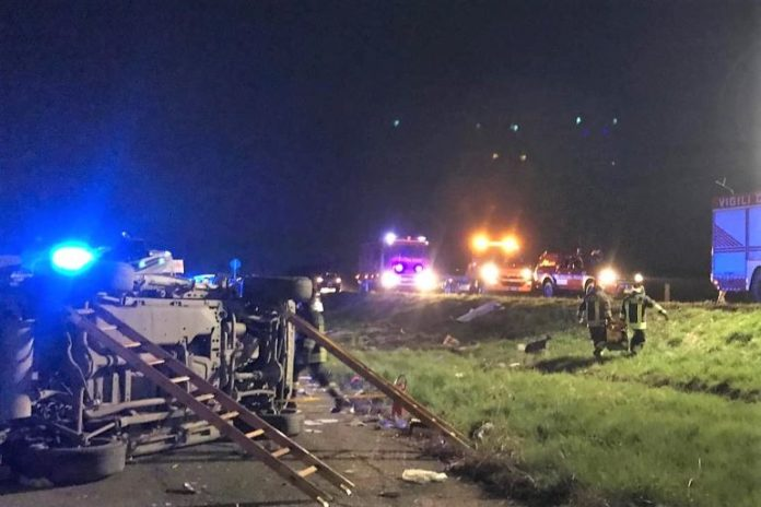 Incidente stradale lungo la provinciale per Levaldigi