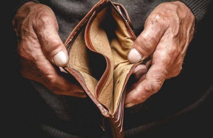 Povertà portafoglio vuoto