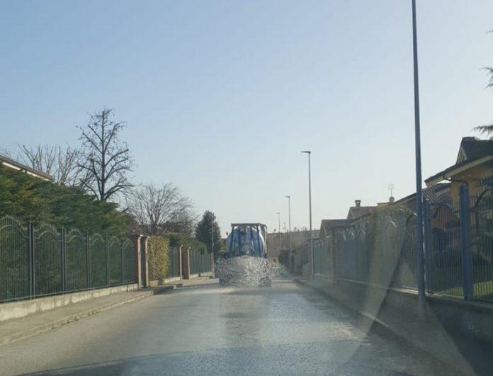 Centallo sanificazione strade