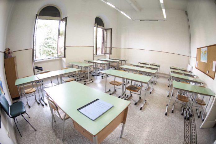 Roma, 29 aprile 2020. Una scuola paritaria gestita da religiosi al tempo del Covid-19 Corona Virus ( Coronavirus ) senza la presenza dei bambini - alunni