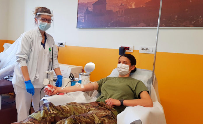 Artiglieri donatori di sangue