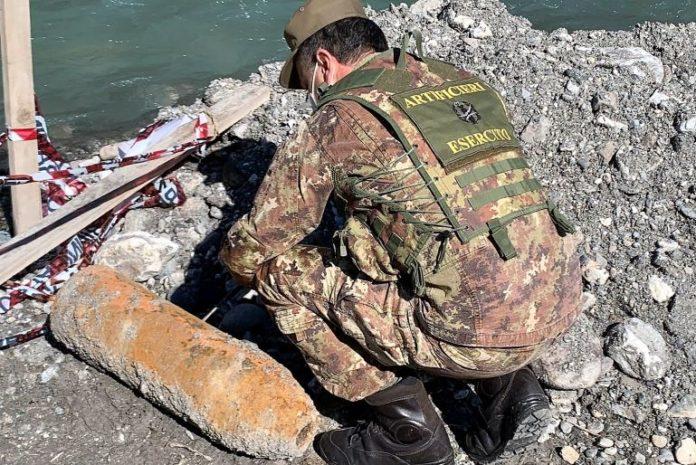 Genieri dell'Esercito neutralizzano bomba ritrovata a Oulx