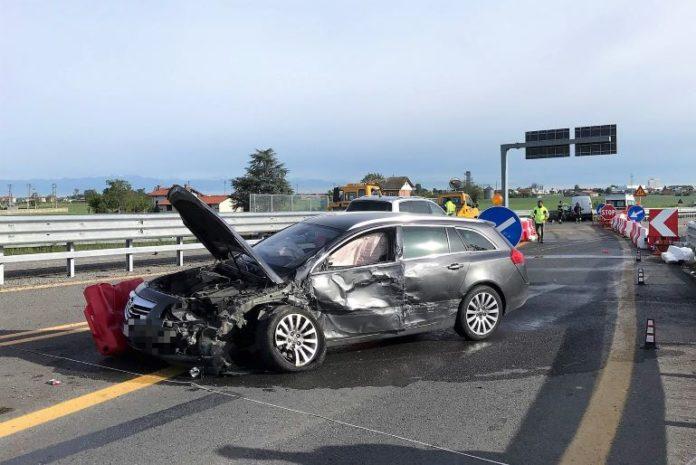 Incidente stradale sulla tangenziale di Fossano