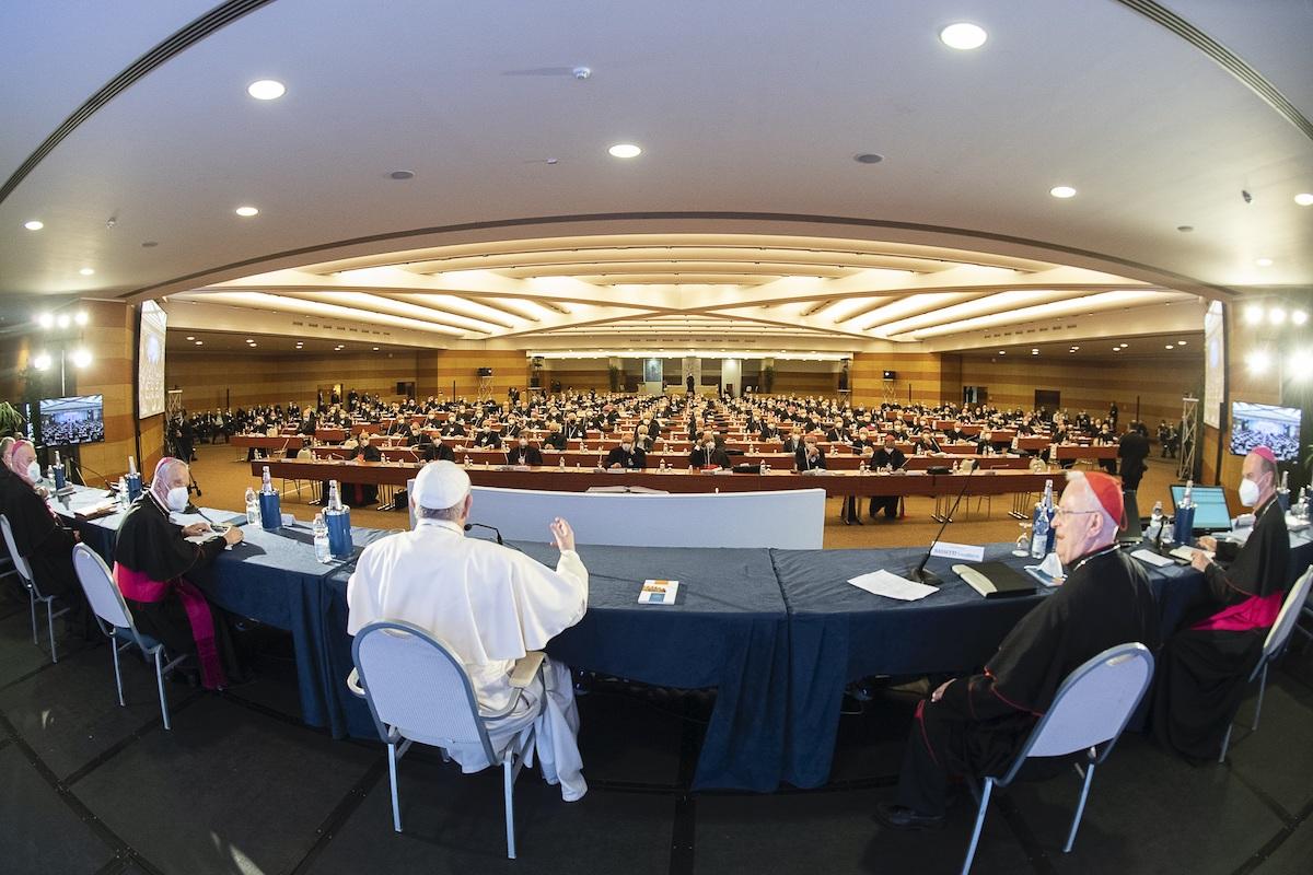 Assemblea generale della Cei, Introduzione di Papa Francesco (foto Siciliani-Gennari/SIR)