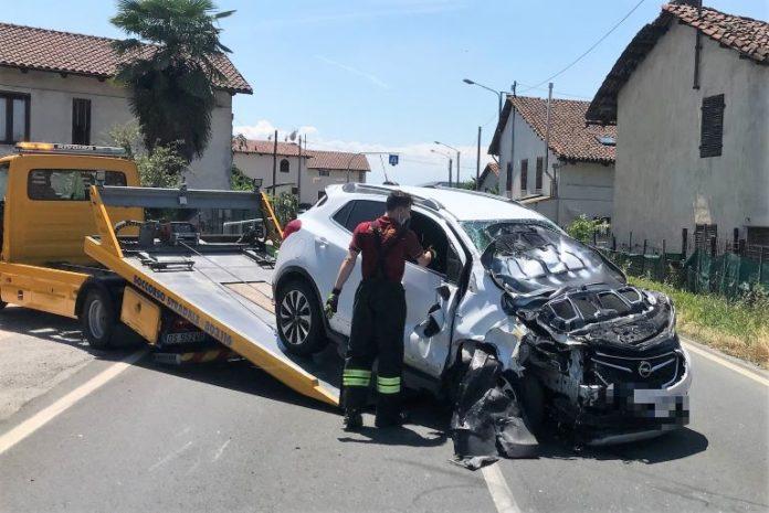 Incidente in località Tetti Chiaramelli a Cervere