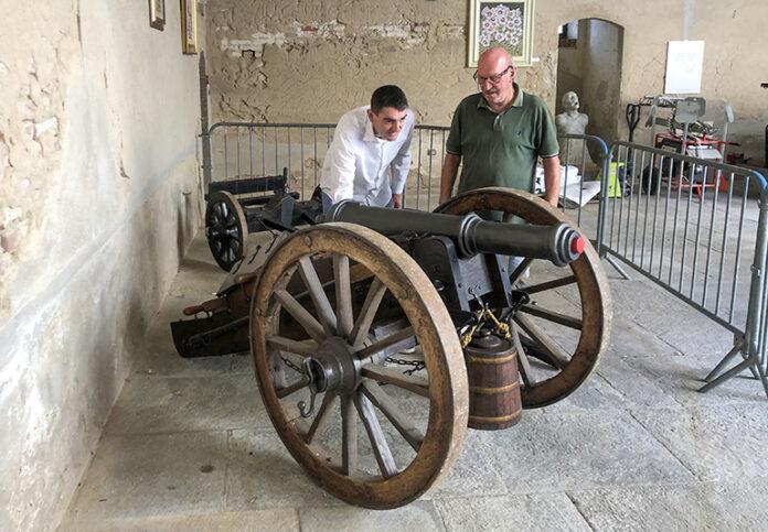 Cannone napoleonico Pirra Mario Castello Acaja