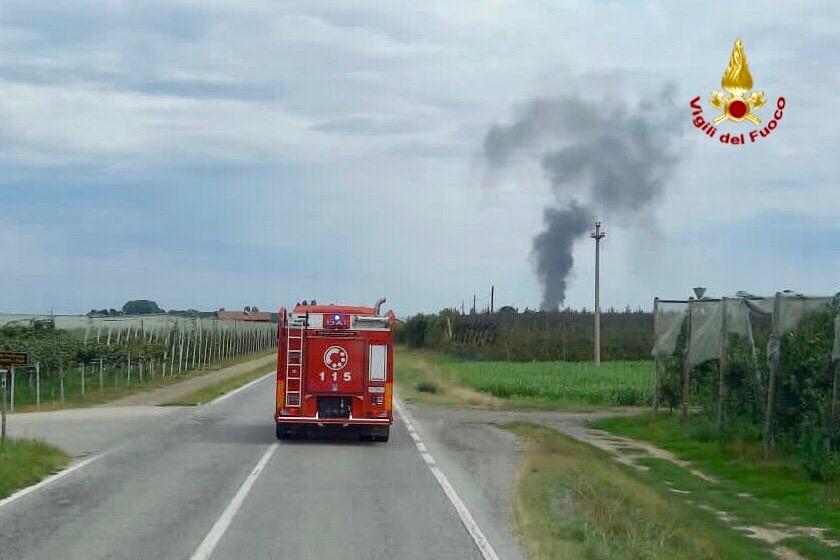 Incendio in una concessionaria a Savigliano