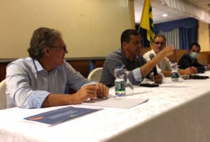 I relatori all'incontro della filiera del grano a Cussanio
