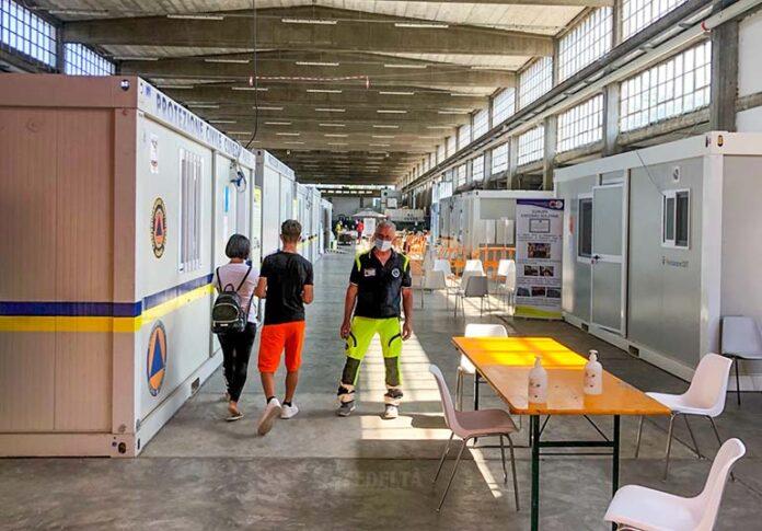 Covid Protezione civile centro vaccinale