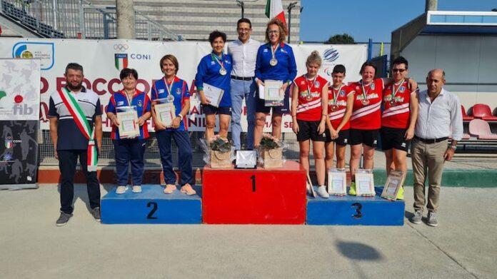 Bocce Centallo, Il podio del campionato italiano femminile a coppie
