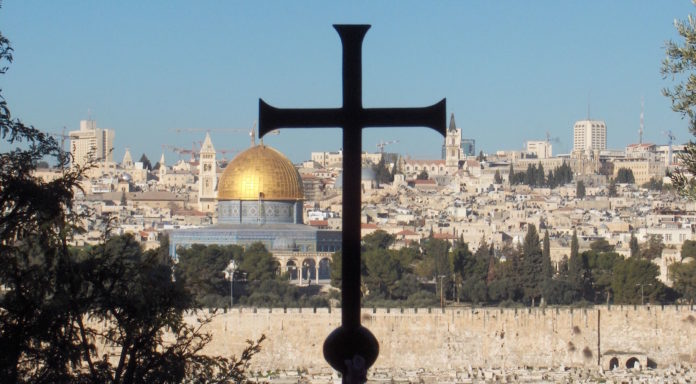 Gerusalemme vecchia vista dall'orto degli ulivi