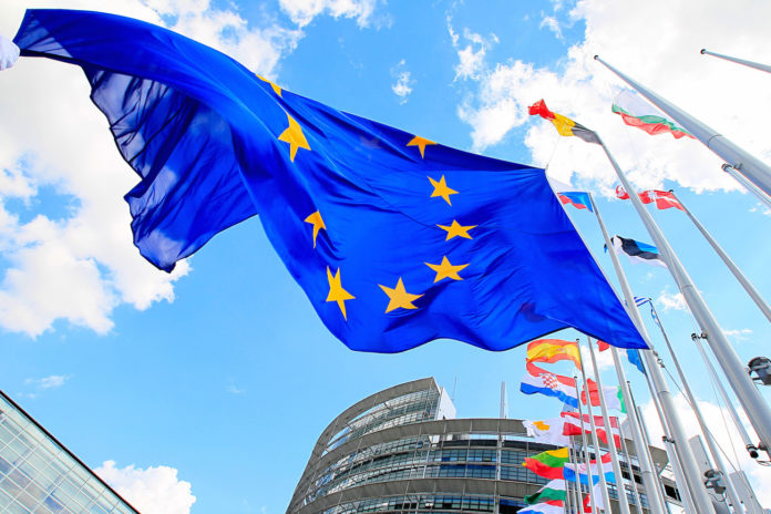 Bandiere d'Europa a Bruxelles